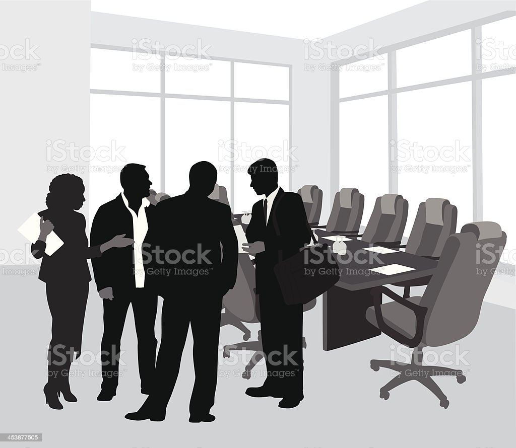 Board Of Directors vector art illustration
