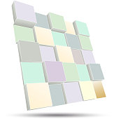 3D board pastel color