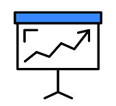 istock Board with graph icon concept 1330928567