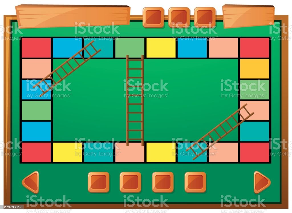 boardgame template with ladders and blocks stock vector art more