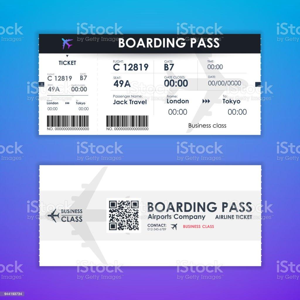 Boardingkort biljett adresskortsmallen element för grafisk design. vektorillustration vektorkonstillustration