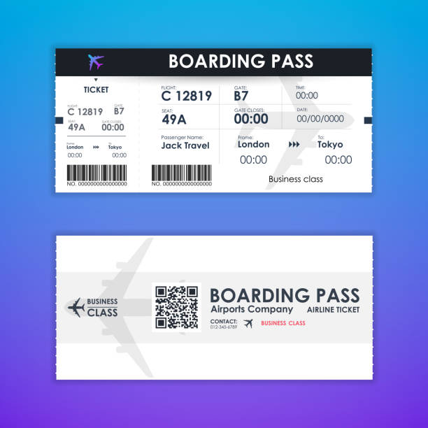 Boarding Pass Vektorgrafiken und Illustrationen - iStock