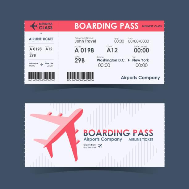 Boarding Pass Ticket Roten Und Weißen Designelement ...