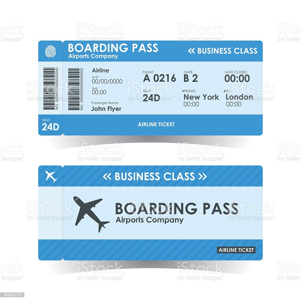 Boarding pass tickets blue design. vector illustration.