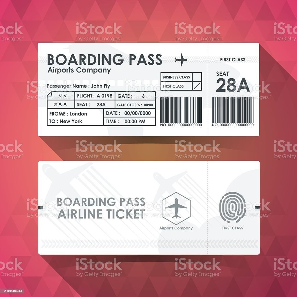 Boarding pass tickets white paper design. vector illustration. vektorkonstillustration
