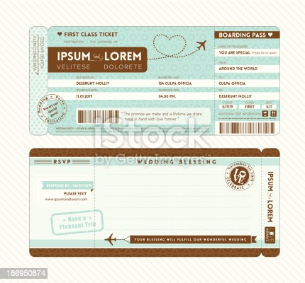 Blank Plane Ticket Clipart Free Download