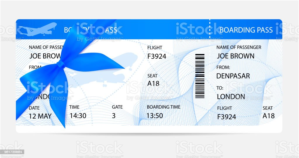 Boarding Pass Silhouette On Background Stock Vector Art More