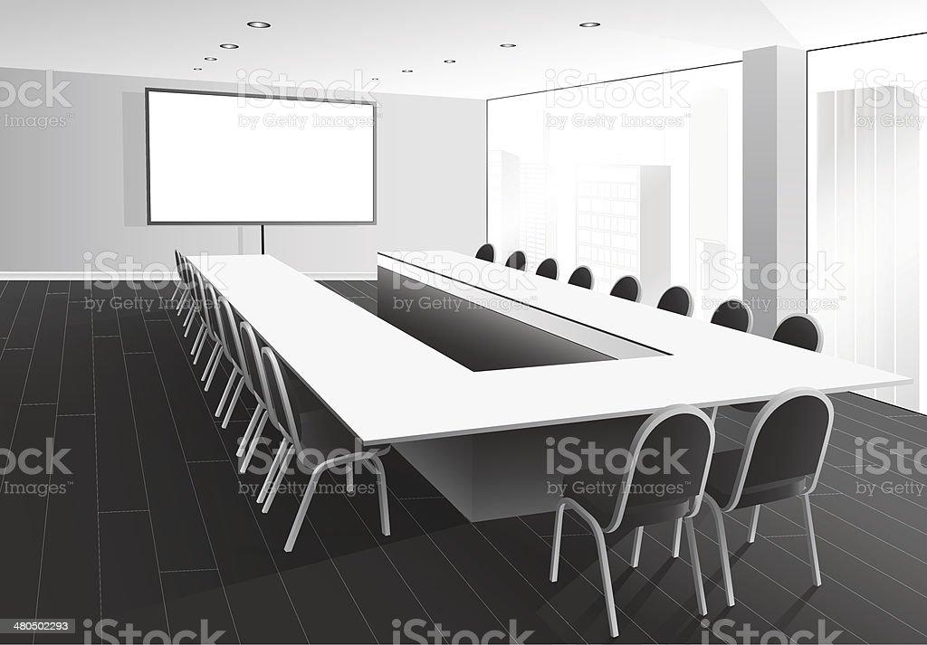 Boardroom vector art illustration