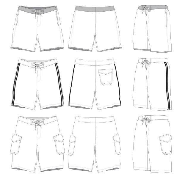 Boardshorts Vorlage – Vektorgrafik