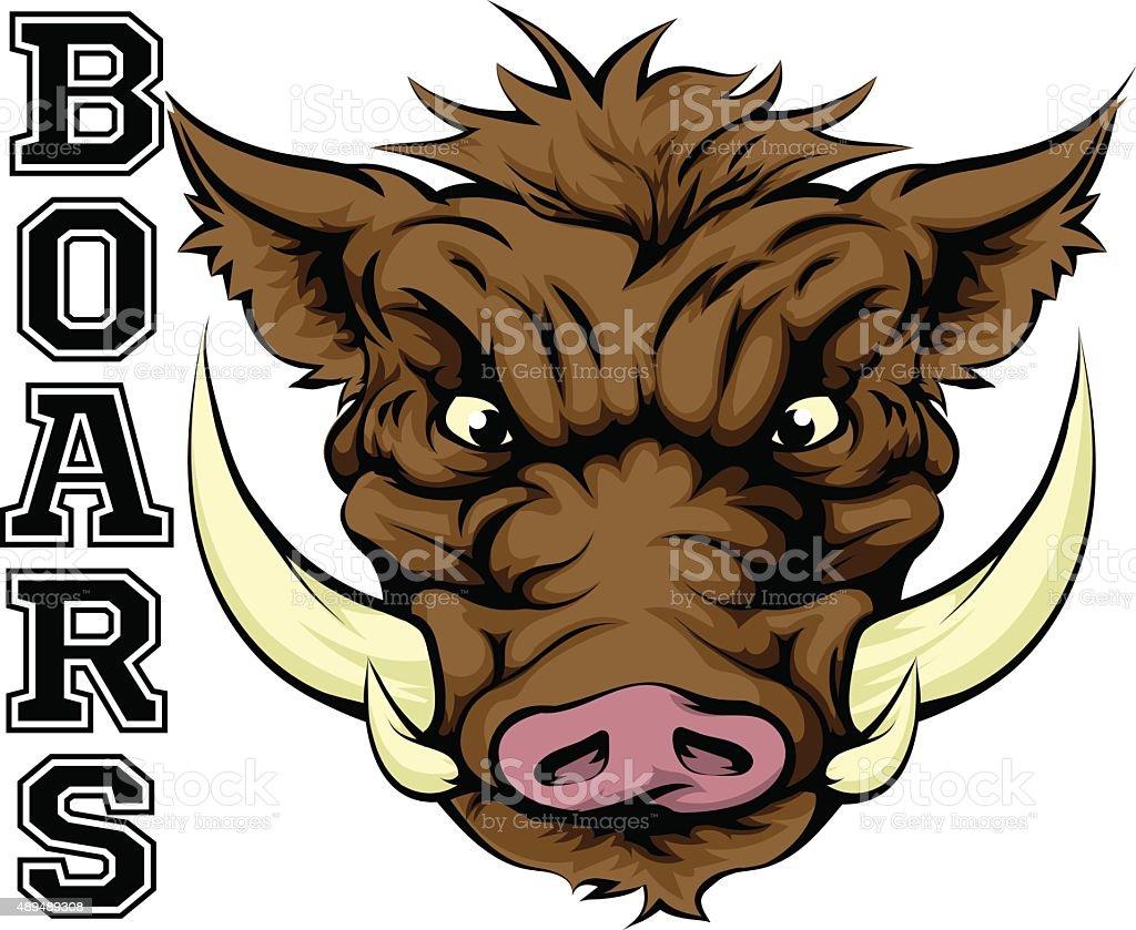 Boars Sports Mascot vector art illustration