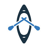 Boat, beach kayak icon - Well organized and editable Vector design using in commercial purposes, print media, web or any type of design projects.
