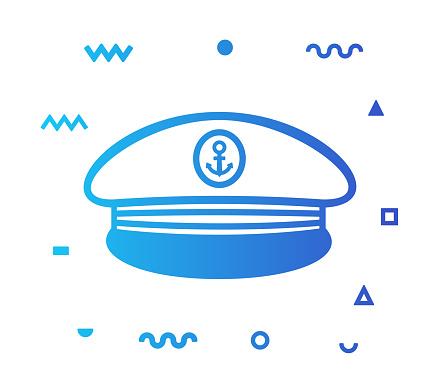 Boat Captain Line Style Icon Design