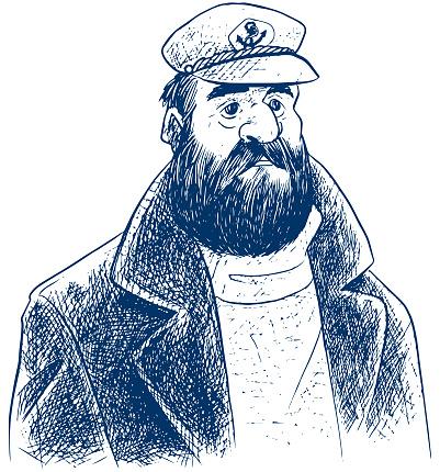 Boat Captain Sketch