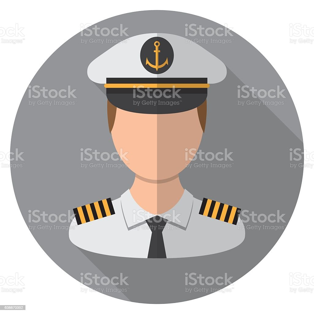 Boat Captains Icon vector art illustration