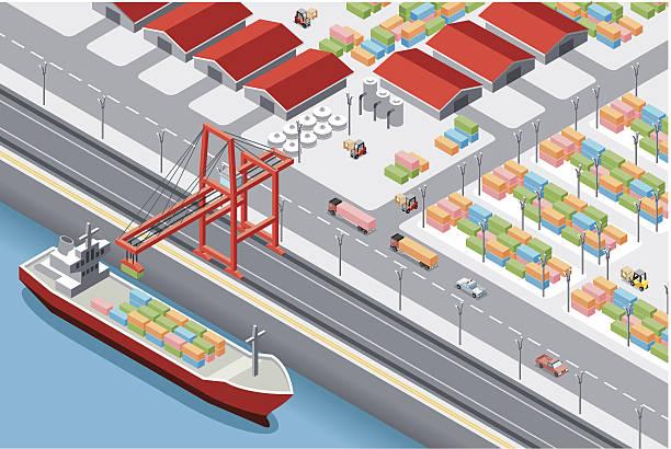 ilustrações de stock, clip art, desenhos animados e ícones de minibarra de ferramentas, porto - porto