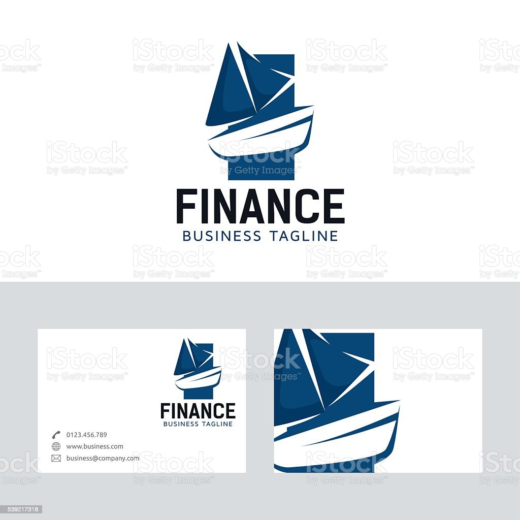 Bateau Finance Logo Vectoriel Avec Modle De Carte Visite