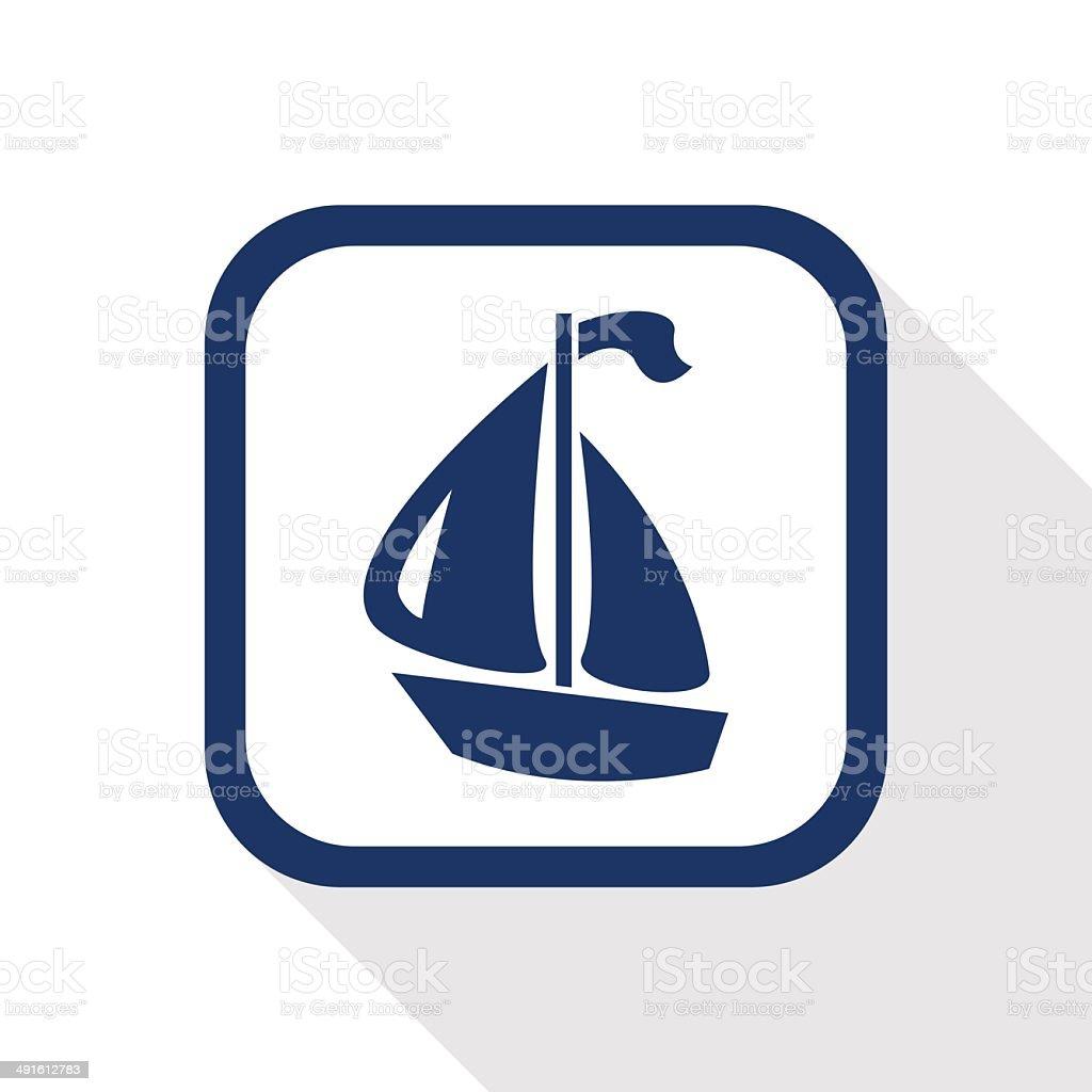 boat flat icon royalty-free stock vector art