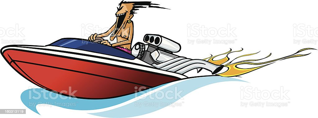 Boat freak royalty-free stock vector art