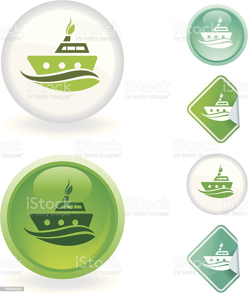Boat  icon | Ecological series royalty-free boat icon ecological series stock vector art & more images of cut out