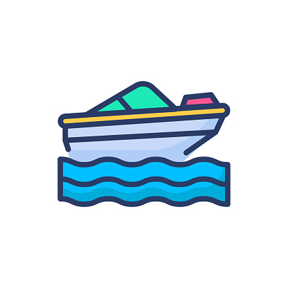 boat icon in vector. Logotype