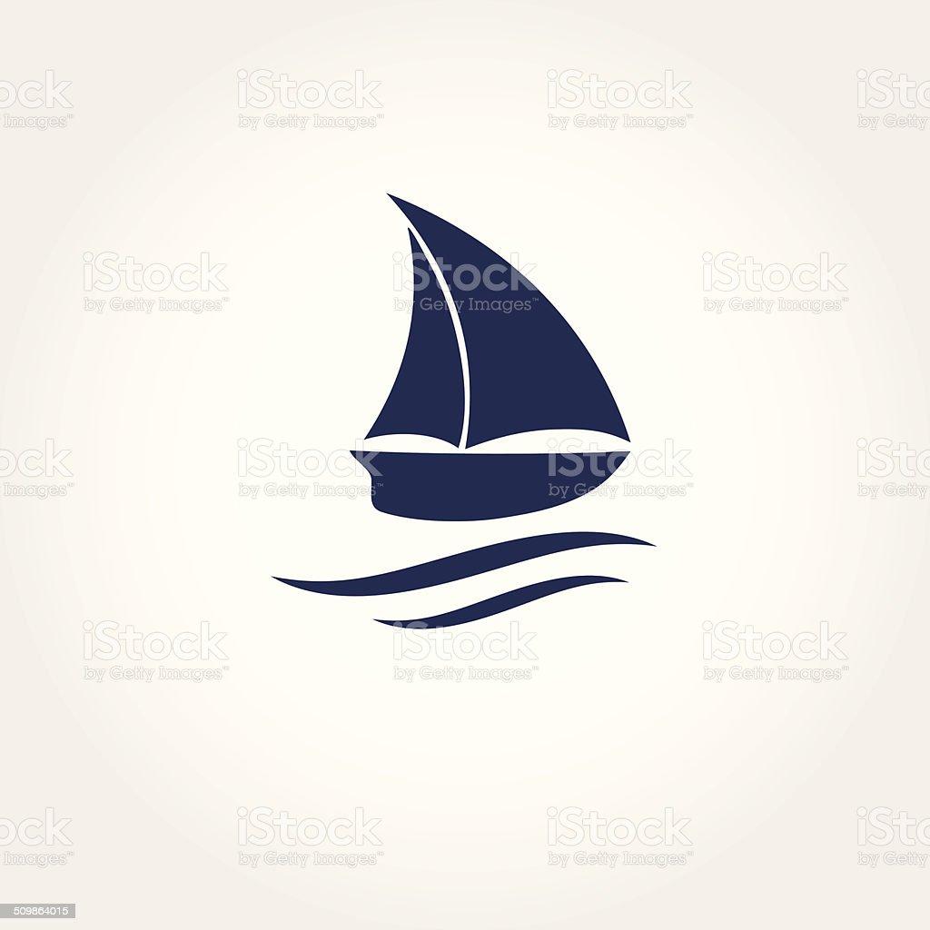 Boat icon. Vector illustration vector art illustration