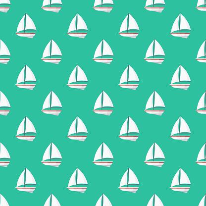 Boat Insurance Seamless Pattern