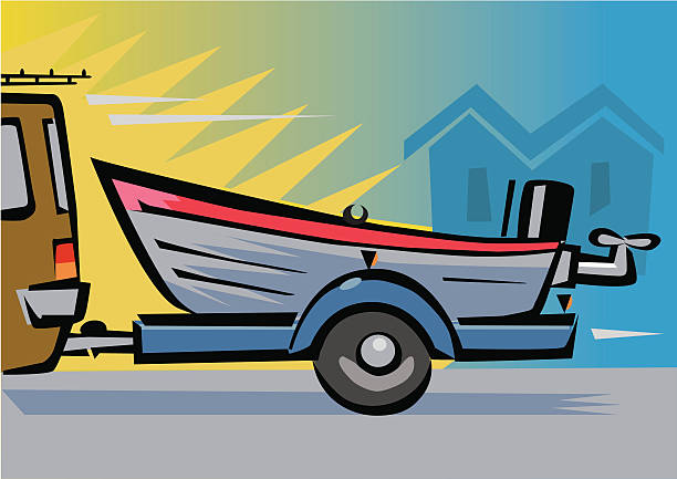 Royalty Free Boat Trailer Clip Art, Vector Images ...