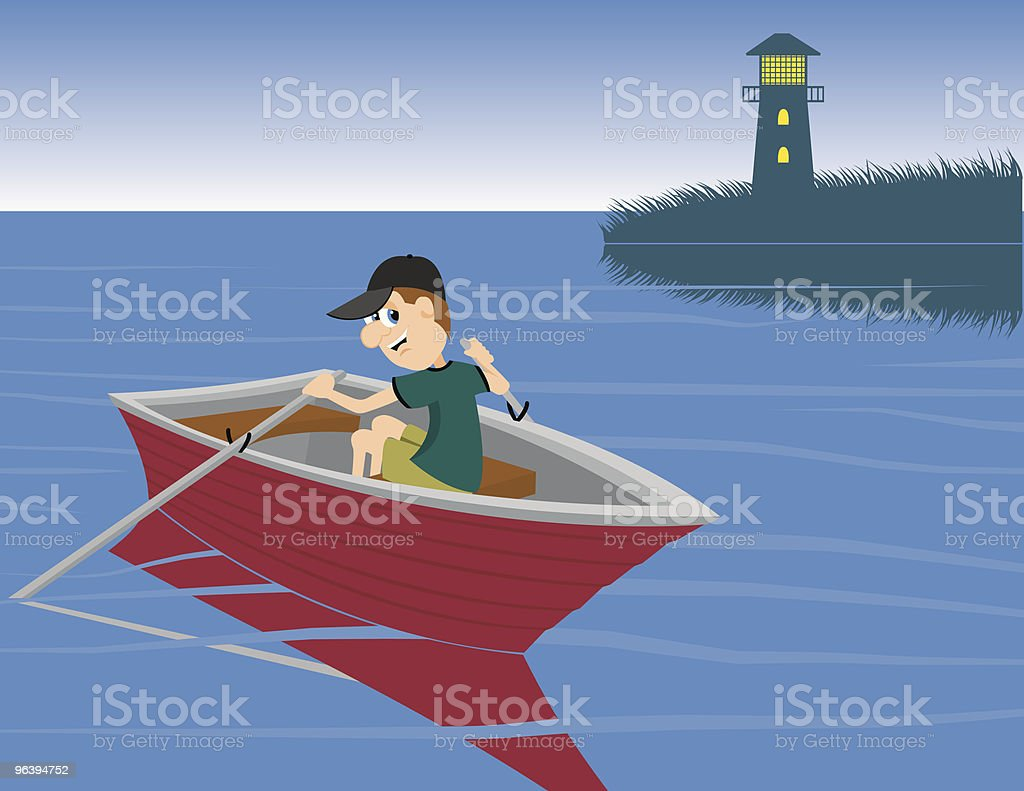Boat Ride - Royalty-free Adult stock vector
