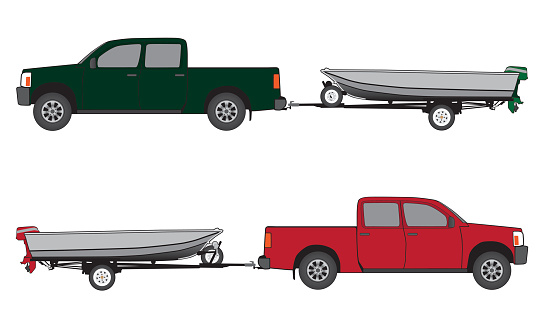 Boat Trailer and Pickup