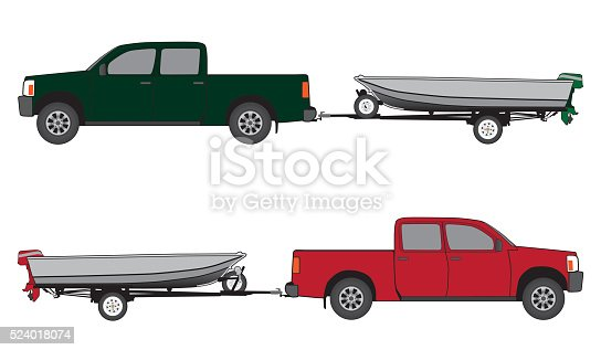 istock Boat Trailer and Pickup 524018074