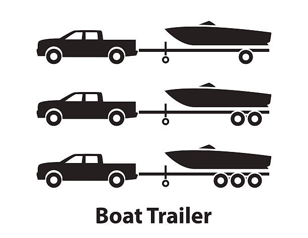 Boat trailers,symbol vector art illustration