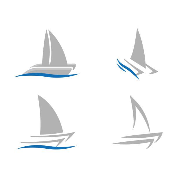 bildbanksillustrationer, clip art samt tecknat material och ikoner med båt - katamaran