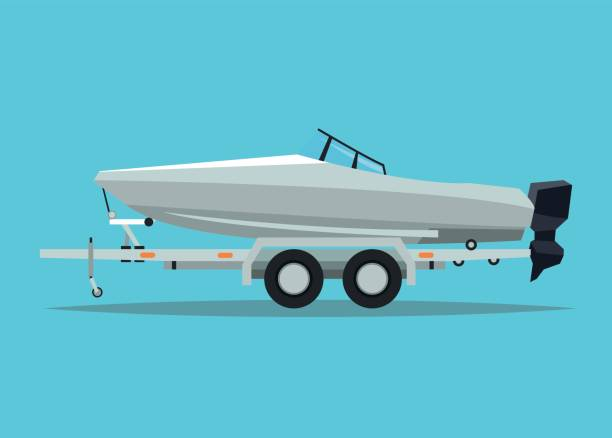 Boat vehicle and transportation design vector art illustration
