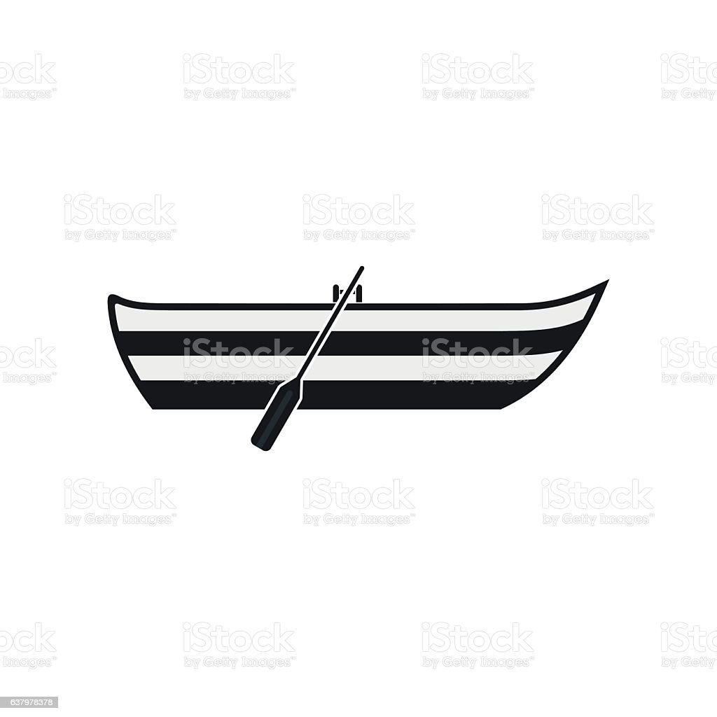 Boat with paddles icon - Illustration vectorielle