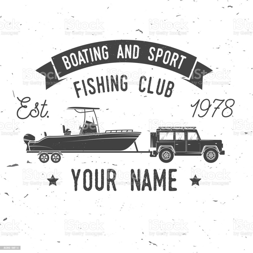 Boating and Sport Fishing club. Vector illustration vector art illustration