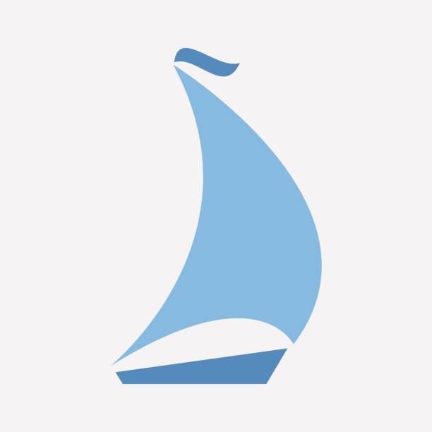 boating icon vector sailing vector art illustration