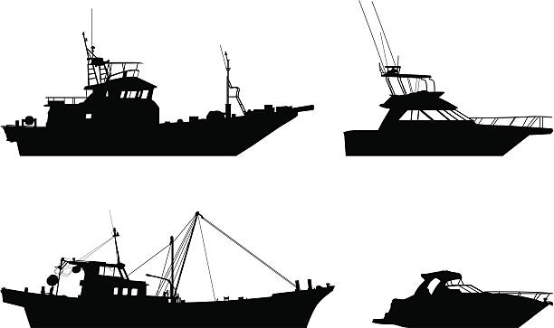 Download 5 362 Fishing Boat Silhouette Stock Photos Pictures Royalty Free Images Istock