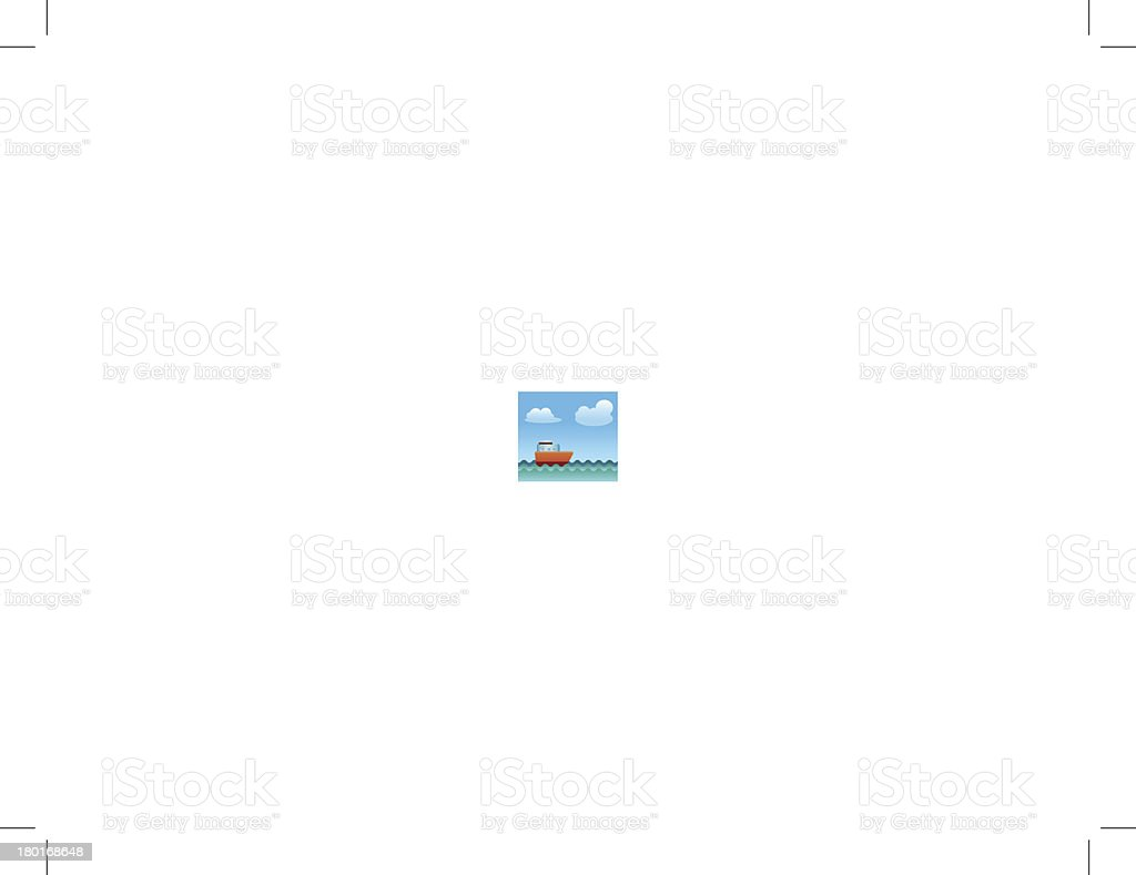 Boatship sailing on the Sea vector art illustration