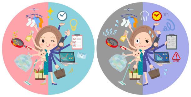 ボブ髪緑のドレス women_mulch タスク スイッチ - 大学生 パソコン 日本点のイラスト素材/クリップアート素材/マンガ素材/アイコン素材