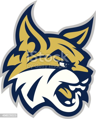 This Bobcat mascot head is great for any mascot, school or organization related design.