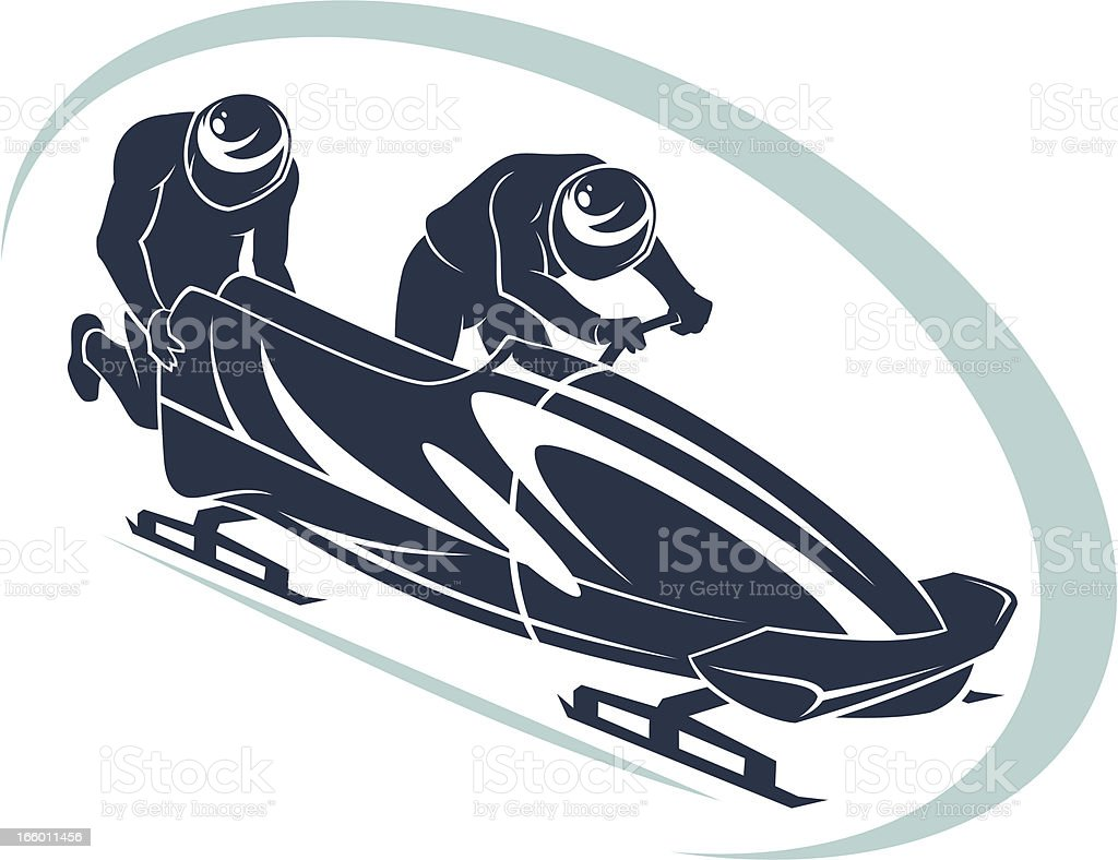 bobsleigh symbol stock vector art amp more images of