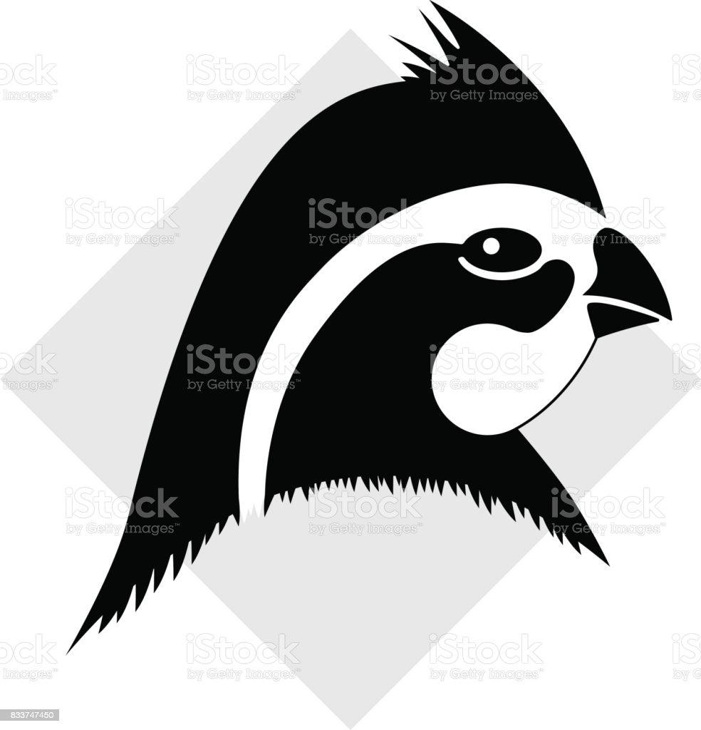 Bobwhite quail head vector art illustration