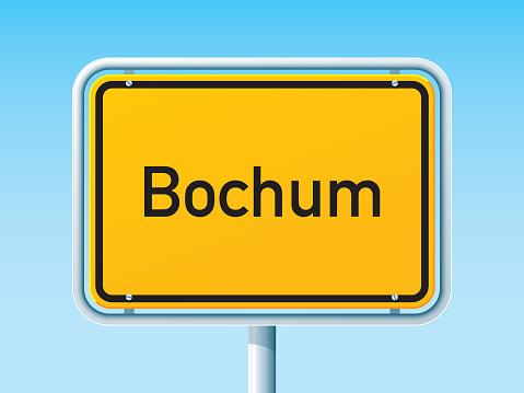 Bochum German City Road Sign