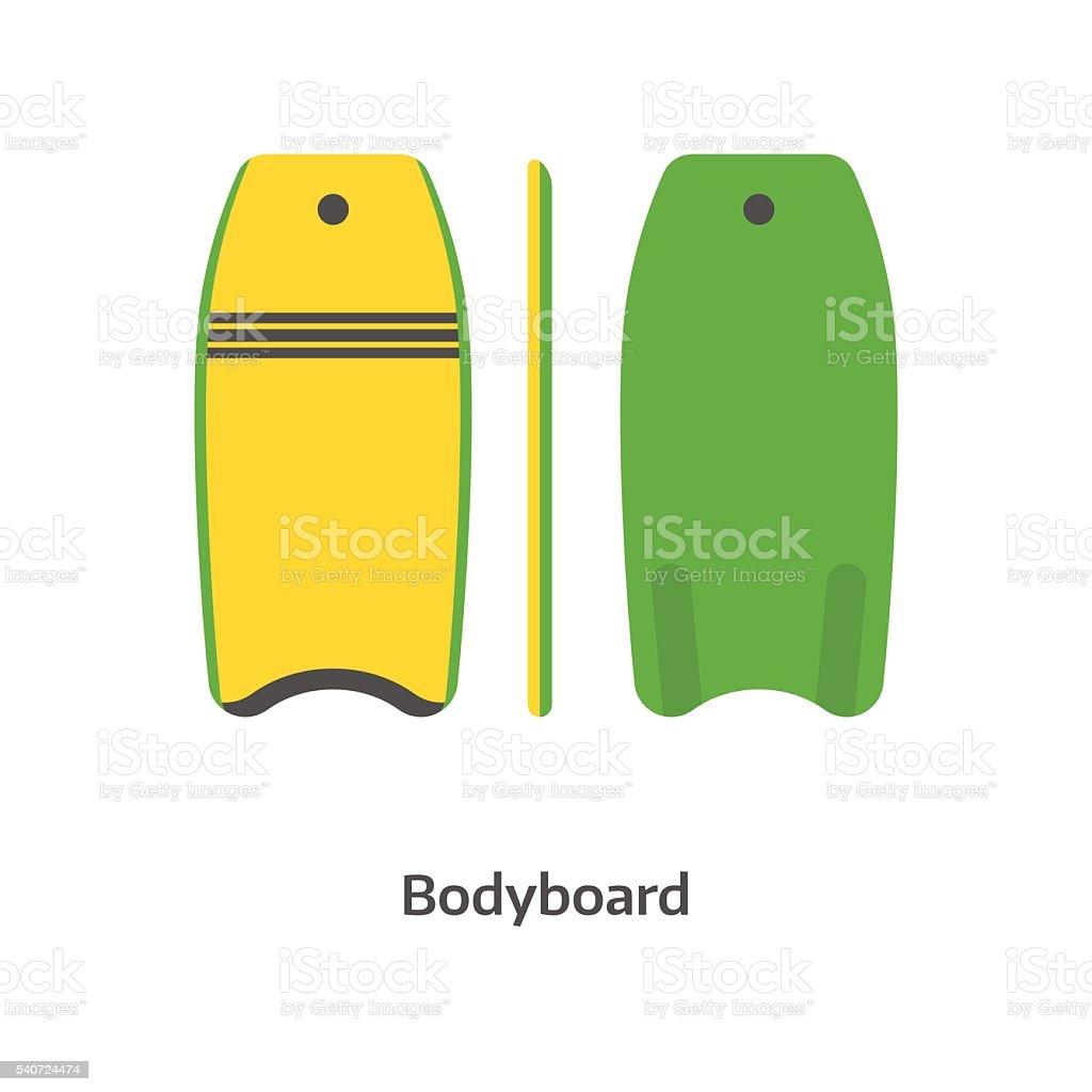 Body Board Vector Illustration vector art illustration