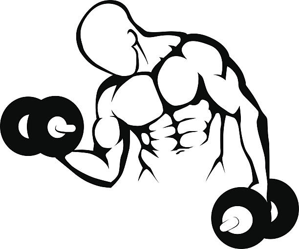 Body builder Gym symbol - Illustration vector art illustration