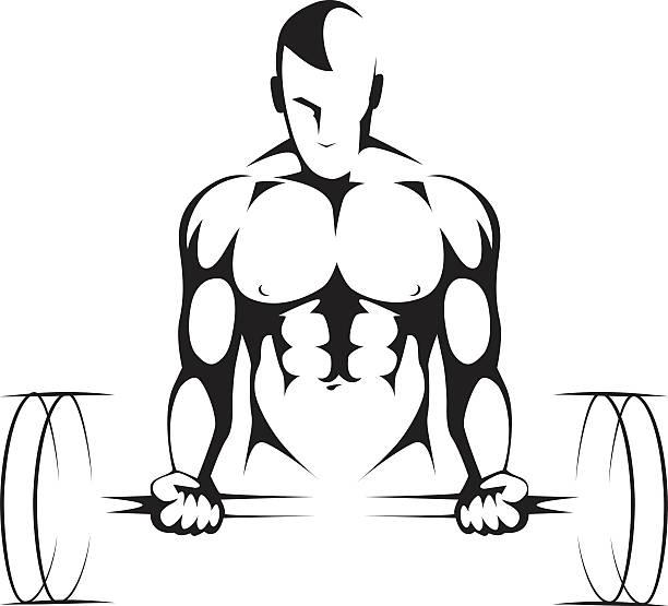 Body builder Gym symbol vector art illustration
