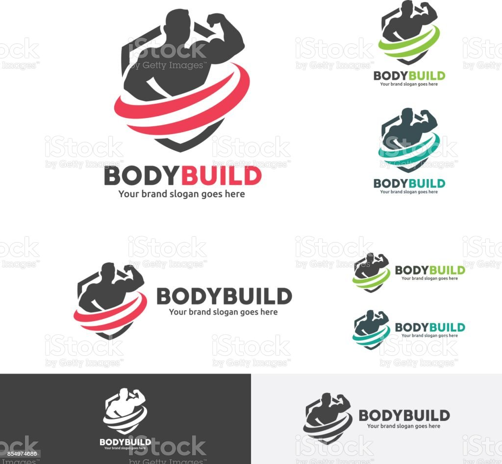 Body Builder icon vector art illustration