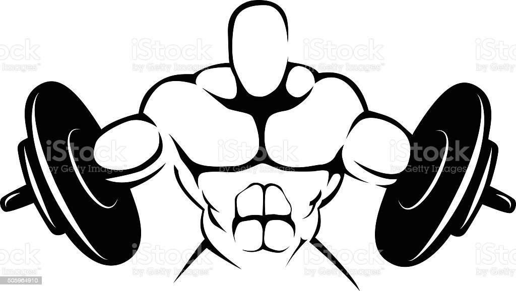 Body building simbol vector art illustration