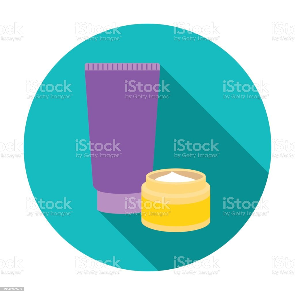 Body creams icon in flat style isolated on white background. Make up symbol stock vector illustration. royalty-free body creams icon in flat style isolated on white background make up symbol stock vector illustration stock vector art & more images of bathroom