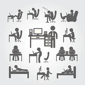 body human using computer